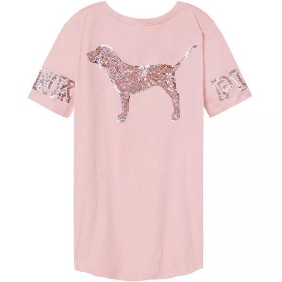 Pink Victoria S Secret Tops Baby Pink Bling Vs V Neck